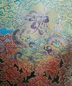 bhutanese dragon painting